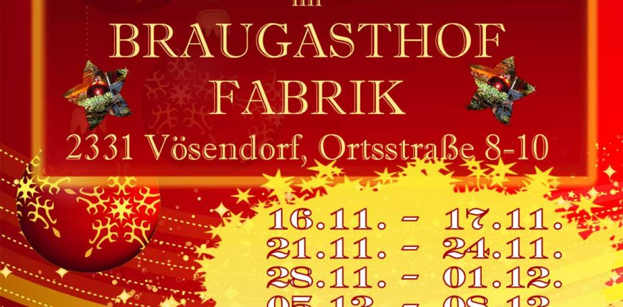Adventmarkt – Braugasthof Fabrik